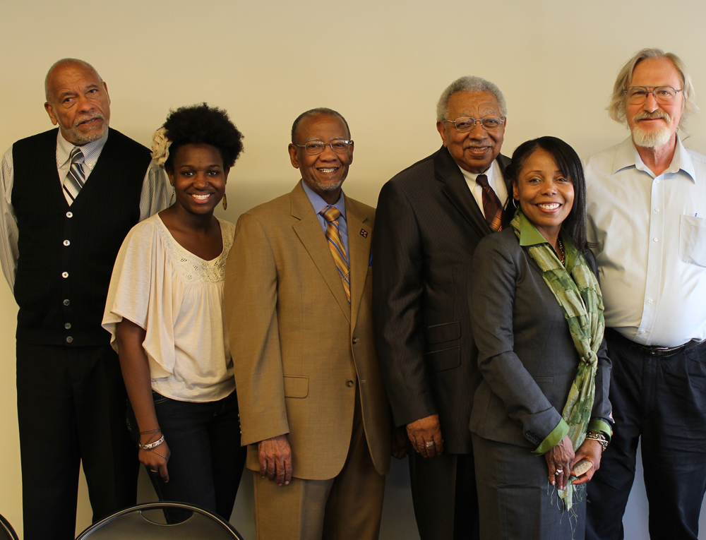 The Freedom Riders panelists with Alice Wirth