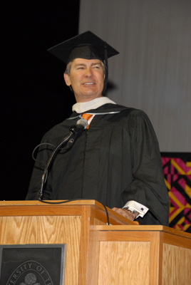 Ken Lowe at Commencement *courtesy GradImages