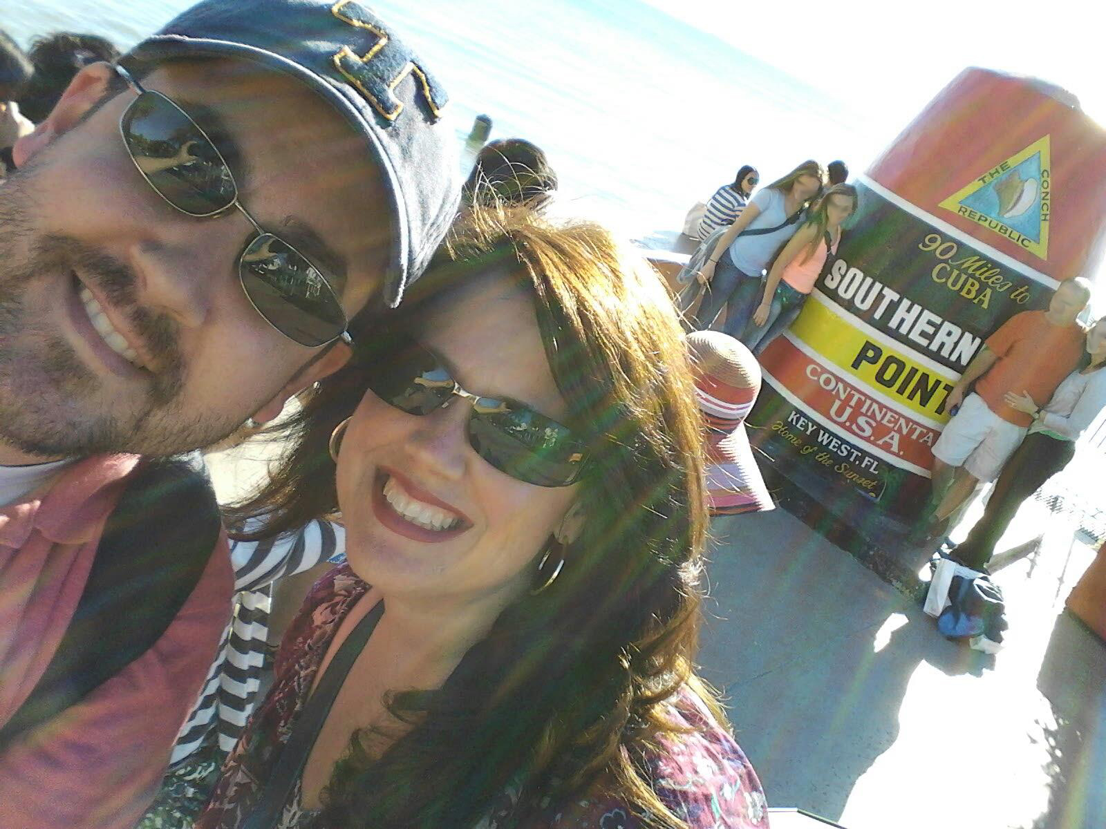The McGees on vacation at the southernmost point in the US
