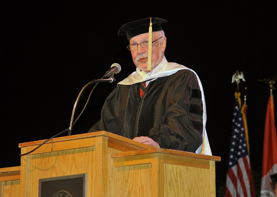 Wilford Gives Commencement Speech
