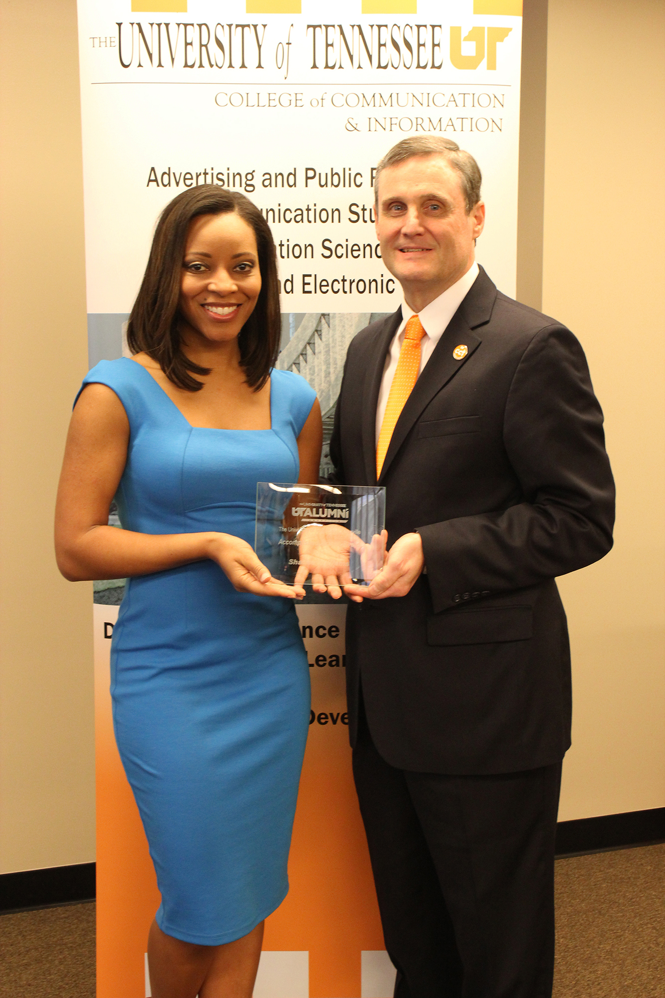 Sharrie Williams with Dean Wirth