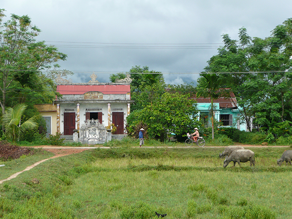 A home in the rural area of the central highlands of Vietnam