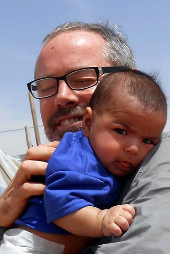 Dean Rice with Syrian Child