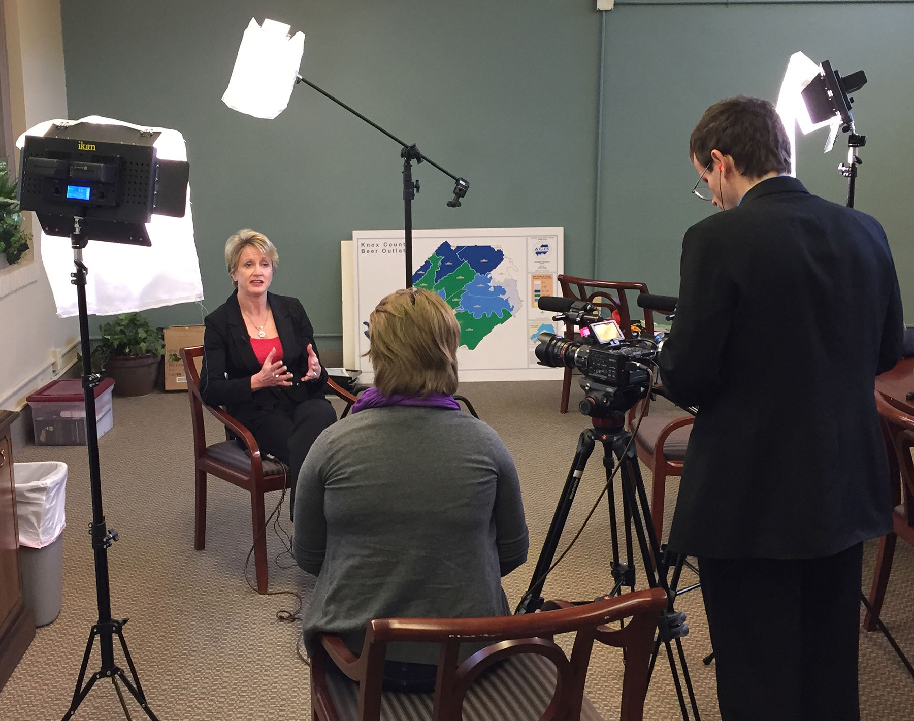 Elmore video taping interview