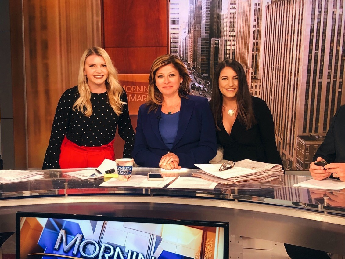 Jacoby (left) on Mornings with Maria