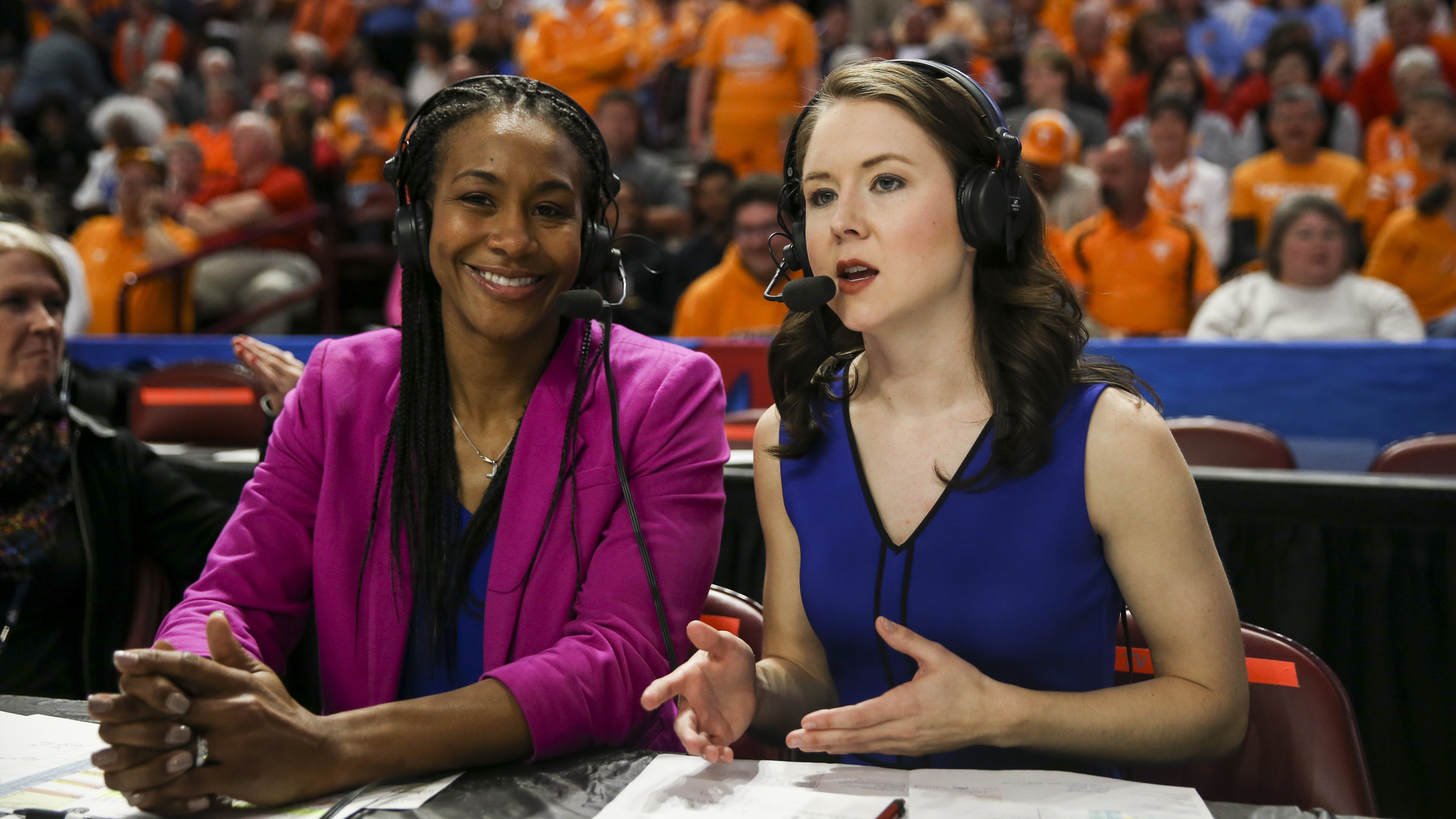 Courtney Lyle and Tamika Catchings Broadcast from TBA